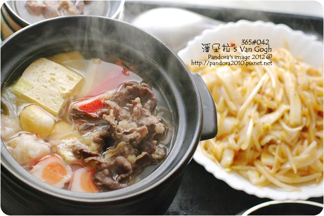 2012.12.12-蔬菜牛肉火鍋、鐵板磨菇醬粄條