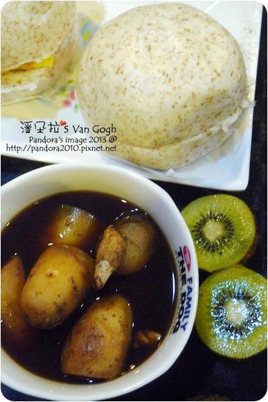 2013.01.03-黑糖地瓜薑湯、麩皮饅頭、奇異果