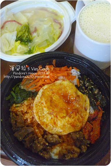 2013.01.25-(全家)韓式拌飯、起司焗蔬菜、香蕉牛奶