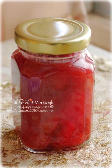 自家莊園。手工草莓果醬