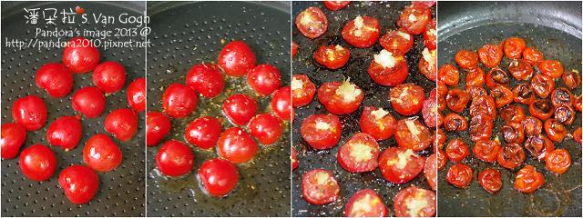 油封蕃茄。作法