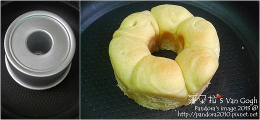 金皇冠優格甜麵包。作法