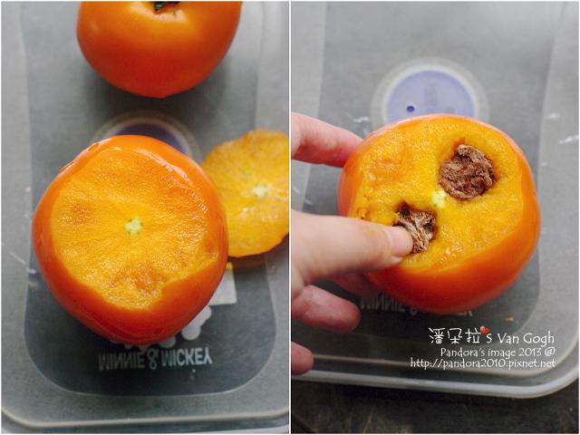 冰凍蕃茄。作法
