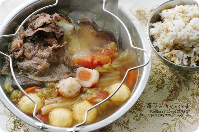 2013.03.15-山珍海味牛肉火鍋、十錦珍榖飯