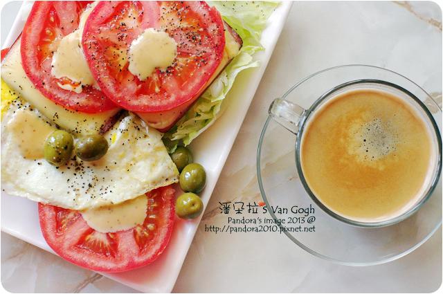 2013.03.19-(Caffe Tiziano)Prezioso咖啡、火腿蛋沙拉