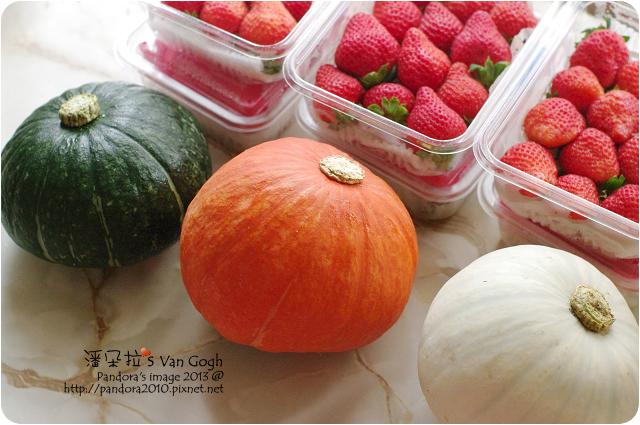 自家莊園。溫室草莓&栗子南瓜
