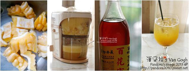 蜂蜜苦瓜汁。作法