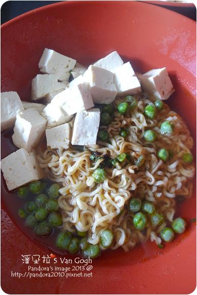 2013.03.22-(味王)原汁牛肉麵+豆腐+蒜香青豆