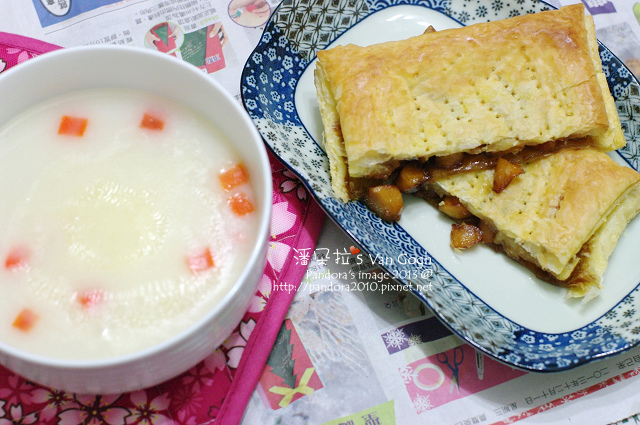 2013.12.15-焦糖蘋果乳酪餅、奶油通心粉.jpg