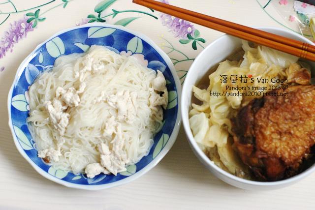 2013.12.23-雞肉麵線、烤雞、高麗菜、麻油雞湯.jpg