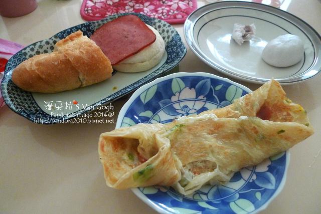 2014.01.06-火腿滿福堡、蔥抓餅+ 蛋、三明治、芋泥包.jpg