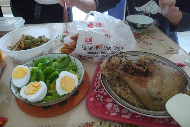 2014.01.19-油飯、炸雞、荷蘭豆.jpg
