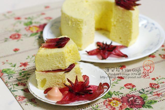 洛神花夾心蛋糕