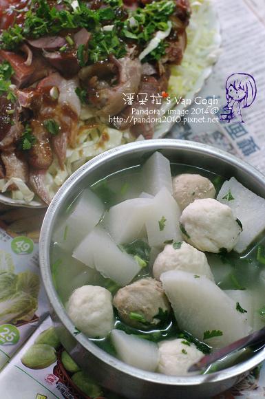 2014.02.16-蘿蔔貢丸湯、豬腳.jpg