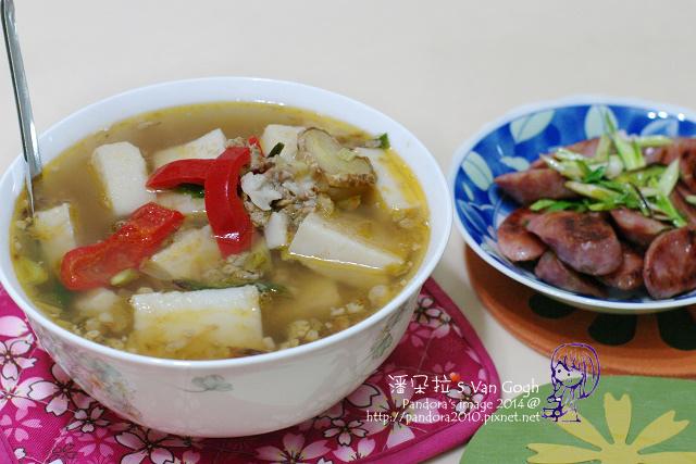 2014.02.19-蘿蔔糕湯、青蔥炒香腸.jpg
