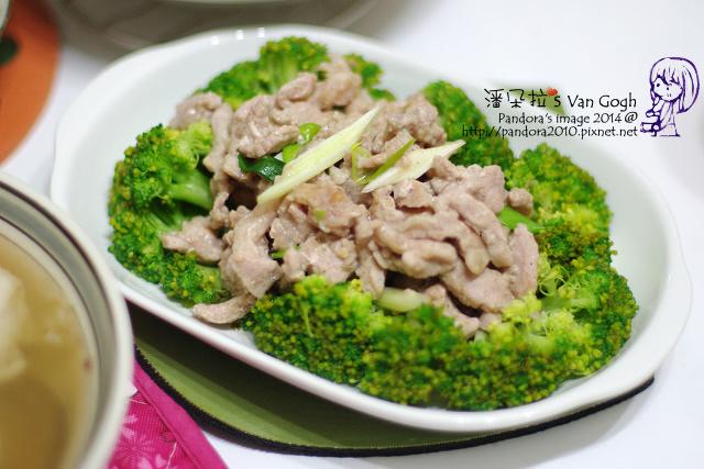 2014.02.26-青蔥炒肉絲+綠花菜.jpg