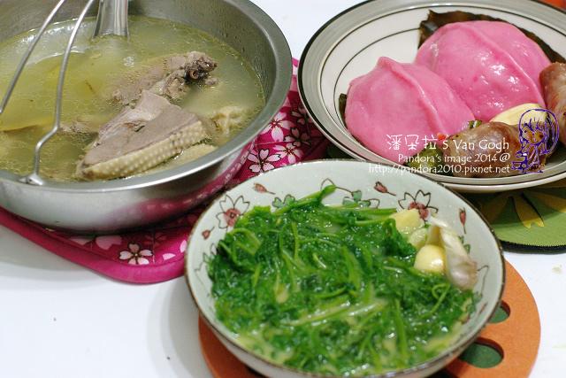 2014.03.02-香腸、鴨肉湯、炒過貓、客家菜包