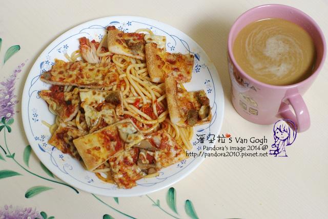 2014.03.12-(達美樂)義大利麵、pizza、二合一咖啡.jpg