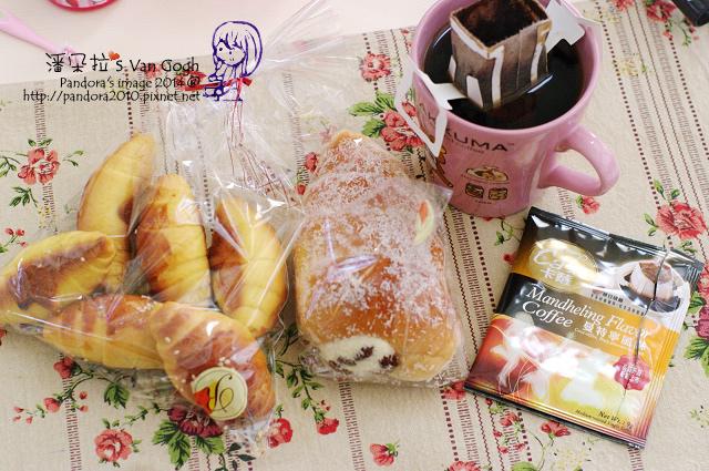 2014.03.25-(卡薩)濾泡咖啡-曼特寧、奶油海螺麵包、牛角麵包.jpg