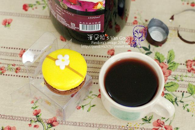 2014.03.29-紅酒、(le plaisir)橙香巧克力馬卡龍.jpg