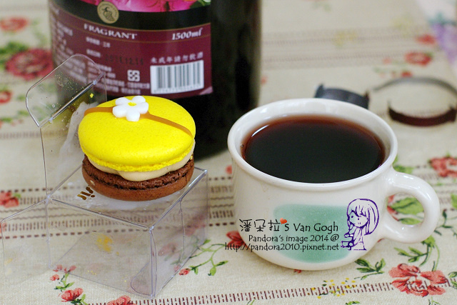 2014.03.29-紅酒、(le plaisir)橙香巧克力馬卡龍-.jpg