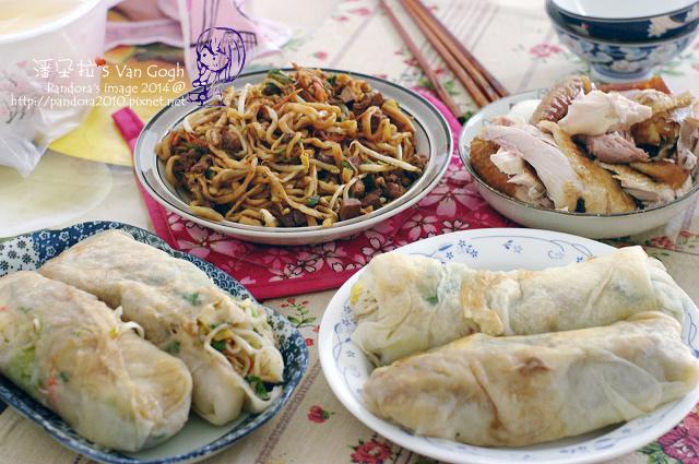2014.03.30-潤餅、烤雞、炒麵.jpg