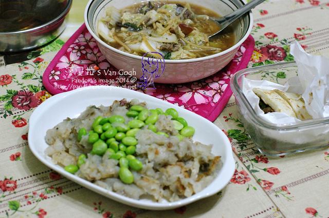 2014.03.31-白菜魷魚羹、(五花馬)港式蘿蔔糕、孜然牛肉捲餅.jpg