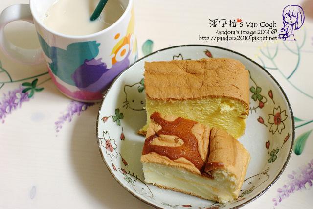 2014.04.15-黑糖薑茶豆漿+膠原蛋白粉、(小林)現烤蛋糕.jpg