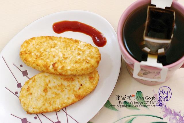 2014.04.18-薯餅、(卡薩)濾泡咖啡-曼特寧.jpg