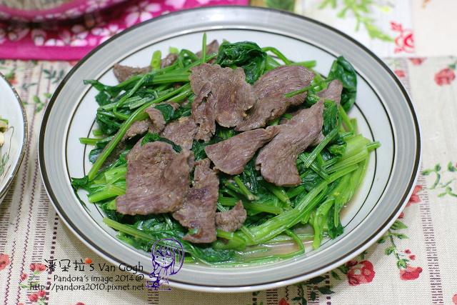 2014.04.24-沙茶牛肉炒菠菜.jpg
