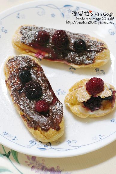 巧克力莓果優格泡芙
