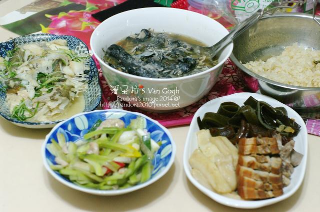2014.09.29-烏骨雞湯、小菜.jpg