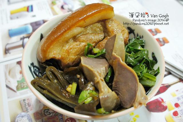 2014.11.01-東坡肉、麻油炒格藍菜、滷海帶、滷鴨胗.jpg