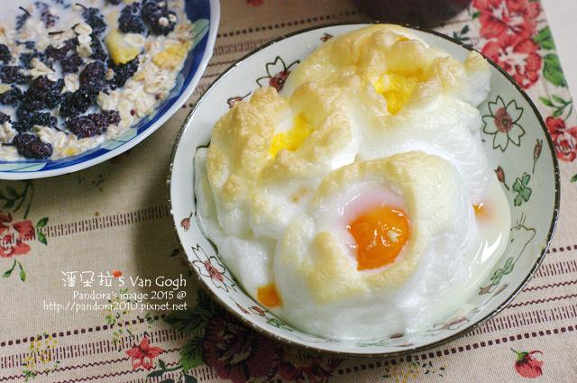2015.05.01-(米森)有機冰湖松子葡萄麥片+(統一)無糖豆漿+桑葚蜜餞、雞蛋.jpg
