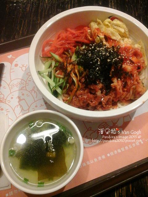 2015.08.10-(金首爾)韓式拌涼麵-豬肉、海帶芽豆腐湯-.jpg
