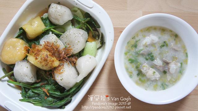 2015.10.24-三角、水煮青江菜、皇宮菜、薏仁排骨粥.jpg