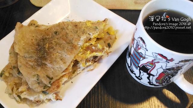 2016.01.10-小米蔥油餅+蛋、熱美式咖啡(+肉桂粉).jpg