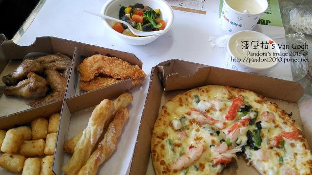 2016.02.13-(達美樂)pizza-白醬海鮮、四喜拼盤、溫沙拉、玉米濃湯.jpg