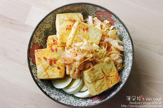 2016.05.01-烤紅燒臭豆腐、泡菜萵苣、水煮蛋.jpg
