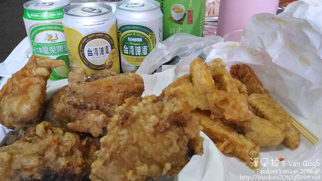 2016.07.05-(美樂福)炸雞、甘梅薯條、(台啤)蜂蜜啤酒、綠茶.jpg