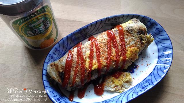 2016.08.01-(義美)蔥油餅+蛋、(台啤)鳳梨啤酒.jpg