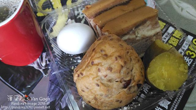 2016.10.30-芝麻黑穀粉、雜糧乳酪麵包、水煮蛋、大理石蛋糕、地瓜.jpg
