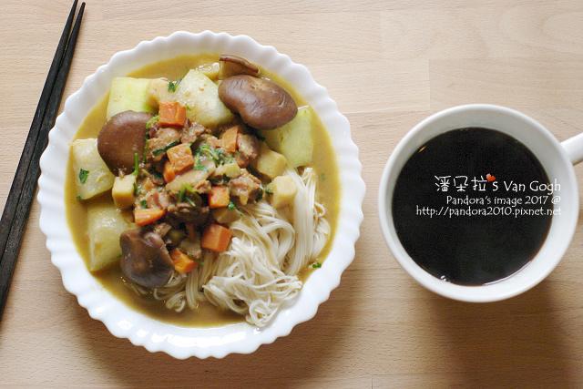2017.01.03-香菇冬瓜咖哩雞肉麵線(芫荽)、巴西拉果亞.jpg