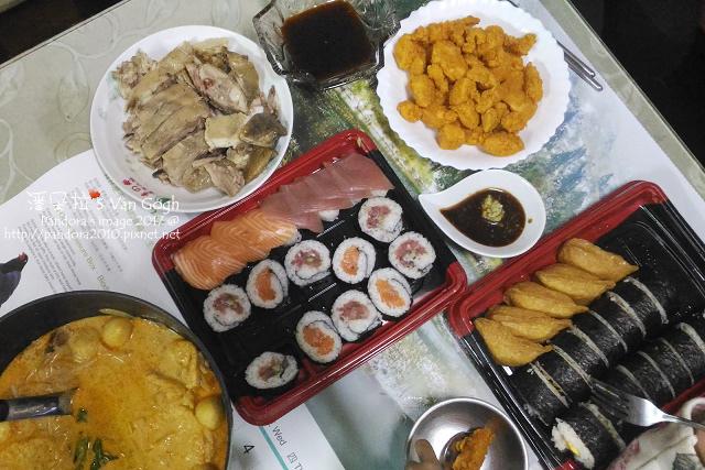 2017.01.31-白斬雞、韓式炸雞、新加坡叨沙、壽司.jpg