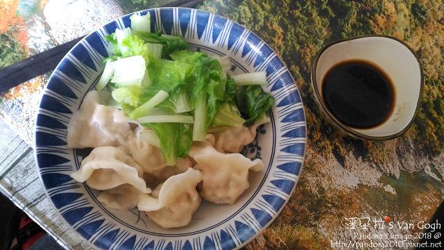 2018.01.13-麻辣四季豆水餃(+烏醋醬油)、小白菜.jpg