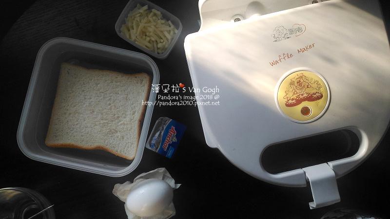 2018.03.18-熱壓三明治。吐司+雞蛋+乳酪絲+奶油-0.jpg