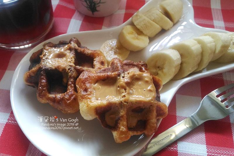 2018.03.25-豆漿、熱美式咖啡、比利時鬆餅、花生醬、香蕉-2.jpg