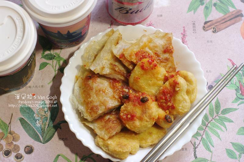 2018.12.16-(大成)鮮嫩雞塊、(回憶香)泰式月亮蝦餅、(city cafe)熱拿鐵、(百威)啤酒.jpg