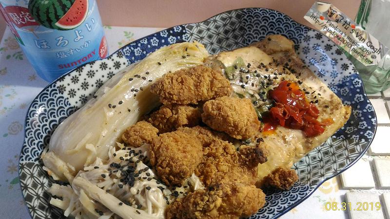 2019.08.31-(三得利suntory)微醉-鹽味西瓜、(7-11)鹽酥雞、筍茸豆皮蘿蔔絲豆皮金針菇酸白菜-2.jpg