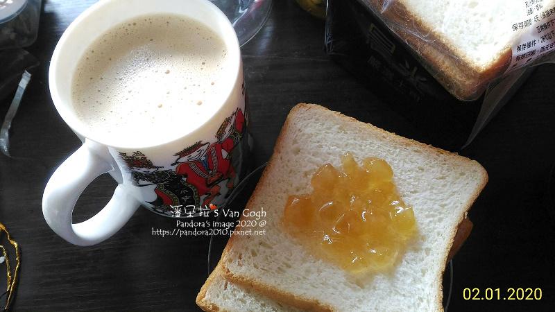 2020.02.01-咖啡牛奶、蜂蜜蘋果醬三明治.jpg